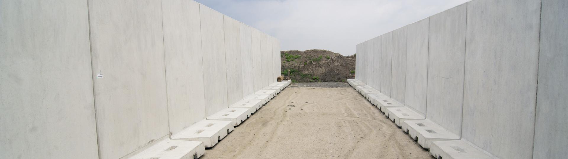 Silos betonowy do zakiszania paszy z kukurydzy oraz sianokiszonek i wysłodków