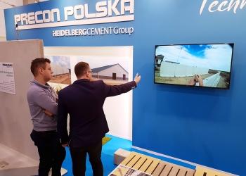 Precon Polska producent prefabrykatów betonowych dla budownictwa rolniczego na targach Ferma 2018 w Łodzi