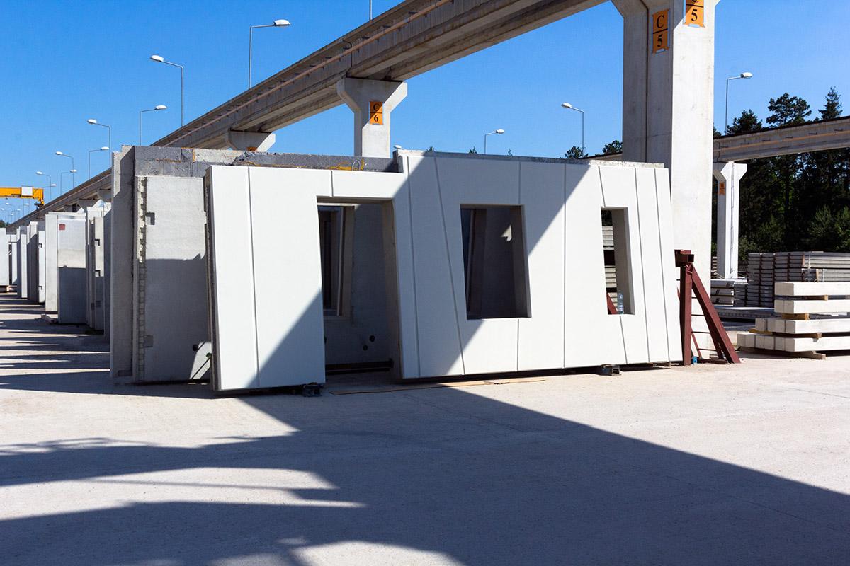 Prefabrykowane ściany żelbetowe dla budownictwa przemysłowego i mieszkaniowego